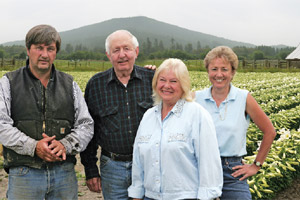 The Crocketts—from left, Don, Davy, Joyce and Linda—run Crockett United Lily Growers in Del Norte County, one of only seven farms in California and Oregon that grow Easter lily bulbs for the entire North American market.