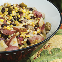 Pete's grilled corn potato salad