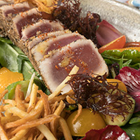 <span>Ahi spring mix salad</span>