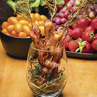 Candied rosemary bacon