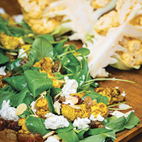 Curried cauliflower and watercress salad