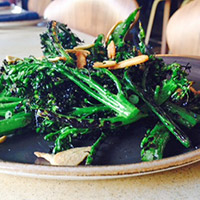 Fog City grilled broccolini