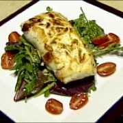 Almond-encrusted halibut